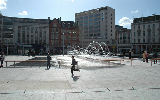 old market square water feature